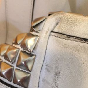 Coach Bags - Coach Legacy studded duffle in white leather